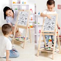 可升降画架支架式家用白板涂鸦写字板儿童宝宝画板双面磁性小黑板