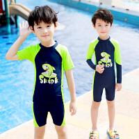 中大童小孩婴幼儿学生游泳裤泳装套装儿童游泳衣男童分体宝宝泳衣