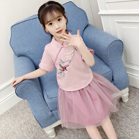 中大儿童夏装中国风套装纱裙小女孩夏季新款女童古装汉服