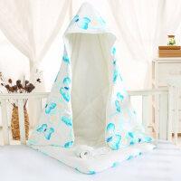 宝宝睡袋 防踢被新生儿初生婴儿秋冬棉包被婴幼儿襁褓盖毯被子宝宝裹布加厚wk-69