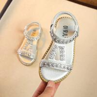 中小童宝宝沙滩鞋子儿童公主鞋2019夏季新款小女孩鞋女童露趾凉鞋