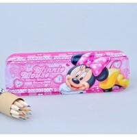 联众迪士尼米奇双层铁皮文具盒 米老鼠学生笔盒