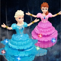 新款电动万向跳舞公主灯光音乐洋娃娃电动炫舞公主玩具 1-4个 零售价