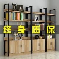 钢木书架落地简易置物架多层书柜组合收纳储物铁艺货架展示架定制