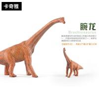 恐龙玩具模型侏罗纪大号实心恐龙玩具环保塑胶恐龙模型玩具男孩礼物霸王龙腕龙 大号实心腕龙 袋装