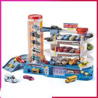 汽车大楼电动轨道套装儿童停车场玩具汽车兼容合金小车 汽车大楼+6辆小车