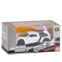 儿童速度激情1:32莱肯跑车合金车模金属声光回力开门汽车模型仿真玩具车3-5岁礼物