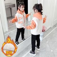 中大童外套加厚三件套女童套装2019秋冬季新款韩版洋气潮衣