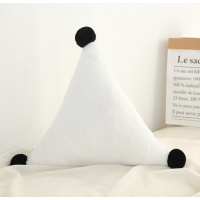 【2件5折】毛绒玩具 新年礼物 予米艺 新品ins星星月亮抱枕床头靠垫皇冠飘窗装饰沙发靠枕毛绒玩具定制 三角白色