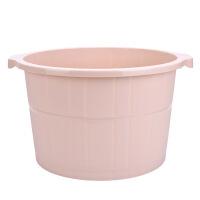 足浴盆泡脚桶家用升级加高加厚塑料无盖脚底按摩简约足浴桶洗脚盆