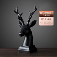 �[件家居�品�[�O�F代客�d酒柜�b�品�[件��柜�Y婚�Y物�[件 黑色 鹿�^雕塑