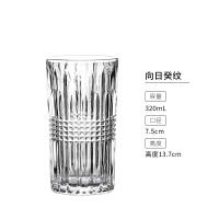 欧式复古浮雕鸡尾酒杯雕花纹玻璃杯长饮杯柯林杯创意刻花杯果汁杯