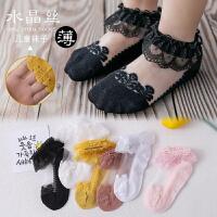 女宝宝袜子夏季薄款儿童花蕾丝公主袜网眼婴儿薄冰丝袜