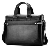 头层牛皮男包手提包横款商务公文包电脑包.6寸男士包包斜挎