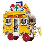 进口英文原版Mini Wheels 小小校车 School Bus 迷你车系列 造型书 卡板书 纸板玩具书