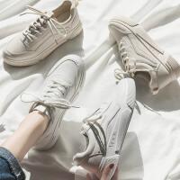 秋款平底韩版透气街拍洋气小白鞋女百搭基础学生休闲运动板鞋