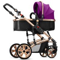 婴儿推车高景观宝宝可坐可躺轻便折叠避震双向四轮手童zf10