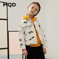 MQD童装男童彩色牛仔外套2020春季新款儿童满版上衣休闲韩版潮
