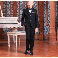 男童皮鞋学生大童夏款软底儿童黑色英伦风演出鞋