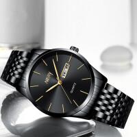 薄款潮男手表男学生韩版时尚潮流机械名表男表钢带石英表