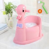 加大号抽屉式儿童马桶坐便器女宝宝婴儿座便器幼儿男便盆小孩尿盆 粉红色 送刷子