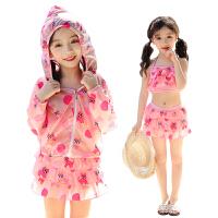 防��和�泳衣女女童中大童游泳衣可�����小公主裙式分�w泳�b