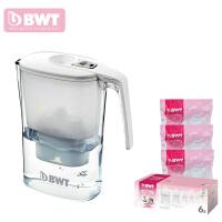 德国BWT倍世过滤水壶净水壶净水器 3.6升 阻垢款白色 蓝色 一壶十芯