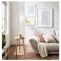 茶几落地灯实木客厅卧室床头灯创意北欧遥控美式落地台灯欧式原木