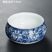 唐丰青花茶洗家用功夫洗茶碗大号陶瓷水盂复古杯洗收纳盘