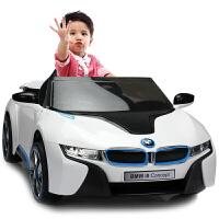 儿童电动车童车四轮双驱遥控可坐电动汽车玩具车授权宝马I8zf10