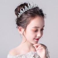 皇冠�^��和�公主裙�^�生日演出配�童�婚�Y大皇冠�l�女童�l箍�b�王冠MYZQ61 白色