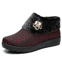 冬季老北京布鞋女棉鞋中老年棉鞋软底妈妈鞋老人加绒保暖女鞋