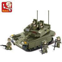 积木拼装 军事坦克模型 6岁儿童拼插组装积木模型玩具抖音