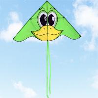 儿童风筝大黄鸭风筝小学生风筝卡通风筝初学者风筝易飞风筝户外玩具 绿色/大黄鸭