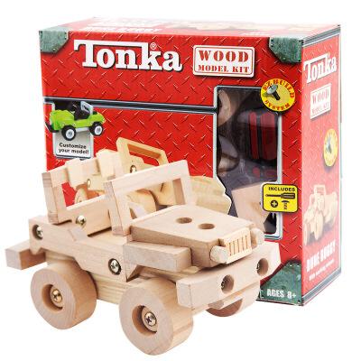 木制组装拆装 模型车铲土车 儿童diy动手玩具