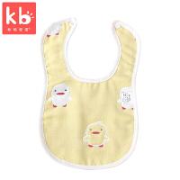 宝宝吃饭围兜5条装口水巾婴儿围嘴饭兜U型婴儿纱布口水巾棉