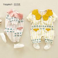 婴幼儿宝宝薄款外出服夏季婴儿夏装连体衣女宝宝衣服