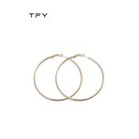 圆形圆圈大耳环女圆环款纯银金色复古大耳圈
