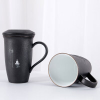 【热卖新品】陶瓷泡茶杯带盖带把马克杯过滤内胆办公家用茶水分离创意个人杯子