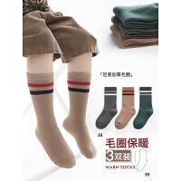 冬季加厚毛圈袜儿童袜子保暖中筒袜男童毛巾袜宝宝学生棉袜