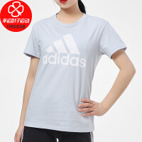 Adidas/阿迪达斯女装新款运动服时尚出行休闲透气圆领宽松短袖T恤GV4029