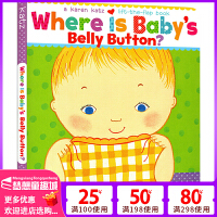 Karen Katz 宝宝的肚脐在哪里 英文原版绘本 Where Is Baby's Belly Button? 纸板