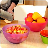 环保pp塑料蔬菜水果沙拉碗 家居厨房搅拌碗洗菜盆