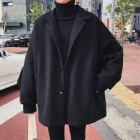 冬季短款毛呢大衣男士呢子风衣2018新款学生潮牌宽松加厚A版外套