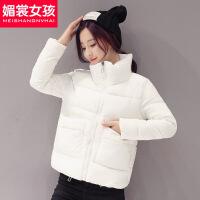 反季棉衣女新款韩版冬装小棉袄女士短款面包服冬季外套女 乳白色 S