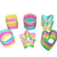 怀旧童年玩具礼物 运动魔力彩虹圈儿童大号弹簧圈 七彩圈拉环