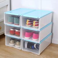 收纳鞋盒 加厚塑料收纳盒 透明鞋盒抽屉式收纳箱防尘男女组合收纳柜