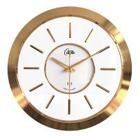 康巴丝钟表挂钟客厅时钟创意大气现代简约卧室石英钟挂表电波钟 2201电波钟玫瑰金 16英寸(直径40.5厘米)