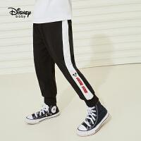 【品秒价:45.9】迪士尼男童长裤2021春新款潮酷卡通针织儿童宝宝裤子
