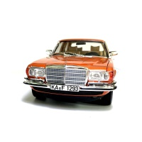 经典老款奔驰车模1:18奔驰450SEL6.9W11976合金汽车模型收藏摆件